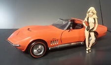 1969 CORVETTE 427 STING RAY PEACH ORANGE B11VB57 FRANKLIN MINT DIECAST 1:24 NIB