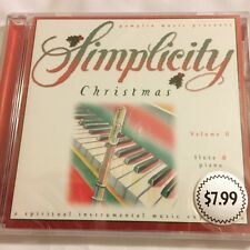 Brand New CD ~ Simplicity Christmas Music ~ Gift Quality ~ Flute & Piano ~ NEW