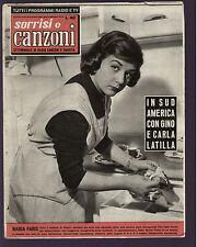 SORRISI 46/1958 MARIA PARIS DALLARA ARENA ALLASIO TOGLIANI RONDINELLA CIGLIANO