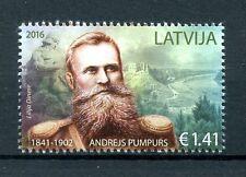 Letonia 2016 estampillada sin montar o nunca montada adrejs Pumpurs 1v Set poetas escritores sellos