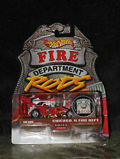 Hot Wheels Fire Department Rods Fiat 500c Chicago, IL Fire Dept, Series 2