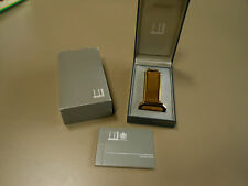 Dunhill Gold Plated Large Table Lighter Model 10445- In original box w/booklet