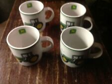 "set of 4 John Deere ""Nothing Runs Like a Deere"" Coffee Mug Tractor Gibson"