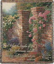 The Rose Garden Tapestry Afghan Throw w/Verse ~ Artist, Thomas Kinkade