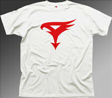 BATTLE OF THE PLANETS G-FORCE LOGO RETRO 80s  white cotton t-shirt 01519