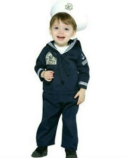 Navy Sailor Military Soldier Uniform Infant Costume 6-12 months