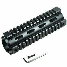 "Hunting Mounts Carbine Length 6.7"" Handguard Picatinny Quad Rail Mount Black"