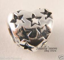 STARRY HEART Authentic PANDORA Silver STARS Charm/Bead NEW WINTER COLLECTION