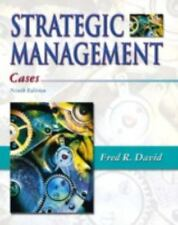 Strategic Management : Cases by Fred R. David (2002, Paperback)