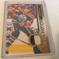 14-15 2014-15 UPPER DECK TAYLOR HALL UD GAME USED PATCH /15 GJ-TH OILERS