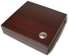 Freemason Masonic Masons Gold Silver Emblem 20 Cigar Humidor Display Box Case