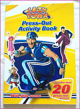 LAZY TOWN  - PRESS OUT ACTIVITY BOOK with Play Scene & 20+ Pieces - LAZYTOWN New