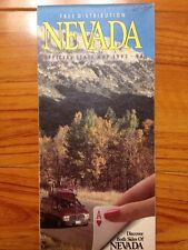 Rare 1994 Nevada  State Offical Road Map Colorful Nice Photo
