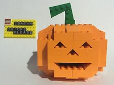 NEW LEGO CUSTOM JACK O LANTERN LIGHT UP HALLOWEEN PUMPKIN DECORATION LED 2015