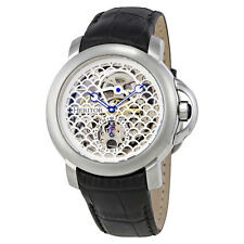 Heritor McKinley Automatic White Skeleton Dial Mens Watch HR4001