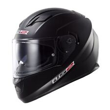 LARGE LS2 Stream Solid Matte Black Full Face Motorcycle Helmet w/Sun Shield