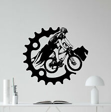 Mountain Bike Wall Decal Bicycle Poster Vinyl Sticker Extreme Sport Decor 72hor