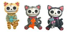 NEW Furrybones Furry Bones Mao Mao Magnets (6) Skull Skeleton Figurine Cats 7794