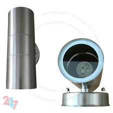 New Stainless Steel Up Down GU10 IP44 Double Indoor Outdoor Wall Light S247