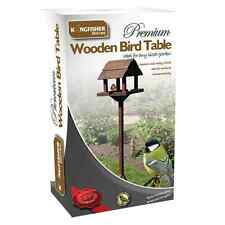 PREMIUM WOODEN BIRD TABLE FREE STANDING WILD BIRDS DELUXE FEEDER FEEDING STATION