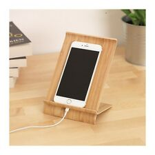 SIGFINN Universal Wooden Bamboo Mobile Tablet Dock Station Holder Stand,Large