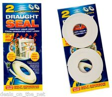 2 x 5M Draught Excluder Tape Seal Doors Windows Foam Weather Strip Insulation