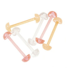 Tongue Rings Retainer Half Ball Retainer 14G  6 Pieces