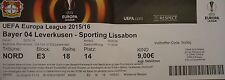 TICKET UEFA CL 2015/16 Bayer Leverkusen - Sporting Lissabon