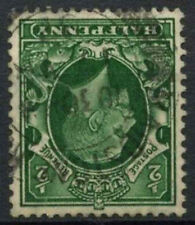 GB, KGV 1934-6 SG#439wi 1/2d Green Wmk Inverted Used #D5349