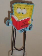 "Spongebob Squarepants Bookmark Art of Jellyfish Universal Studios 4"" Paperclip"