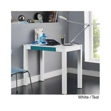 Small Office Desk White Student Dorm Computer Writing Workstation Kids Teens