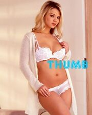 Ashlynn Brooke - 10x8 inch Photograph #044 in White Lace Bra & Knickers