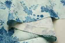 "*Rustic Blue* Vintage Japanese Silk Kimono Fabric*50cm(19.7"")**"
