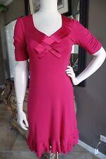 NANETTE LEPORE Berry Stretch Jersey Shift Dress XS