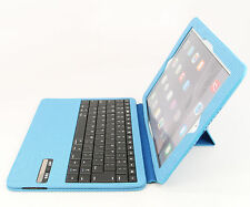 Ultra Slim iPad Air 2 Folio ABS Wireless Bluetooth Keyboard Case Station Blue