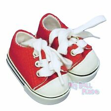 Red Sneakers Tennis Sports Shoes made for 18 inch American Girl Doll Clothes