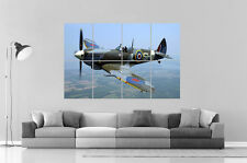 Supermarine Spitfire WW2 Aircraft Wall Poster Grand format A0 Large Print