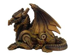 Steampunk Dragon Statue.Rusty Robotic.Victorian Sci-Fi Steam Punk Figurine 8655