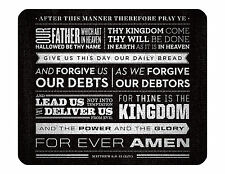 "9""x7"" MOUSE PAD - Religious 1 Lord's Prayer God Jesus Computer Office Mousepad"