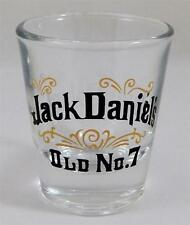 Jack Daniel's Shot Glass Old No 7 Libbey Whiskey Clear Black Gold New
