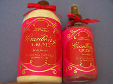 NEW Victorias Secret CRANBERRY CRUSH Body Mist & Body Lotion FULL Discontinued