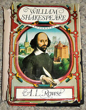 William Shakespeare a Biography by A.L. Rowse (1963, 1st Edition Hardcover)