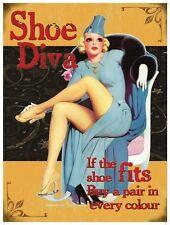 Chaussure Diva,Années 50 Pinup,Drôle/Humoristique,M Métal/étain signe,Image,