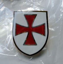 Knights Templar Shield Crusader St George Crusade Cross Pin Badge used Lionheart