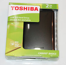 NEW SEALED Toshiba external hard drive Hard disk 2tb USB 3.0 Black Canvio Basics