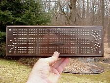 Vintage High-End, Better Quality Black Walnut & Lucite Acrylic CRIBBAGE BOARD