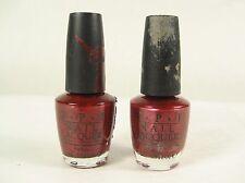 2 O.P.I Nail Color Polish 0.5 Fl Oz #NL H08 I'M NOT REALLY A WAITRESS ~ Red