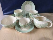 Burleigh Ware Balmoral Pale Green Part Coffee Set Vintage China