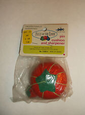 Rare Vintage Fruit of the Loom Pin Cushion and Sharpener