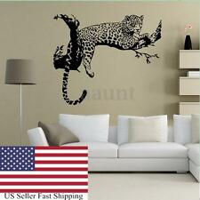Large Waterproof Leopard Animal Wall Sticker Black Removable Bedroom Sticker